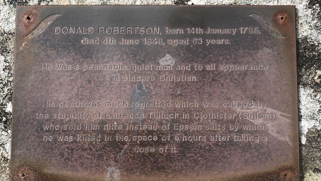 The grave of Donald Robertson