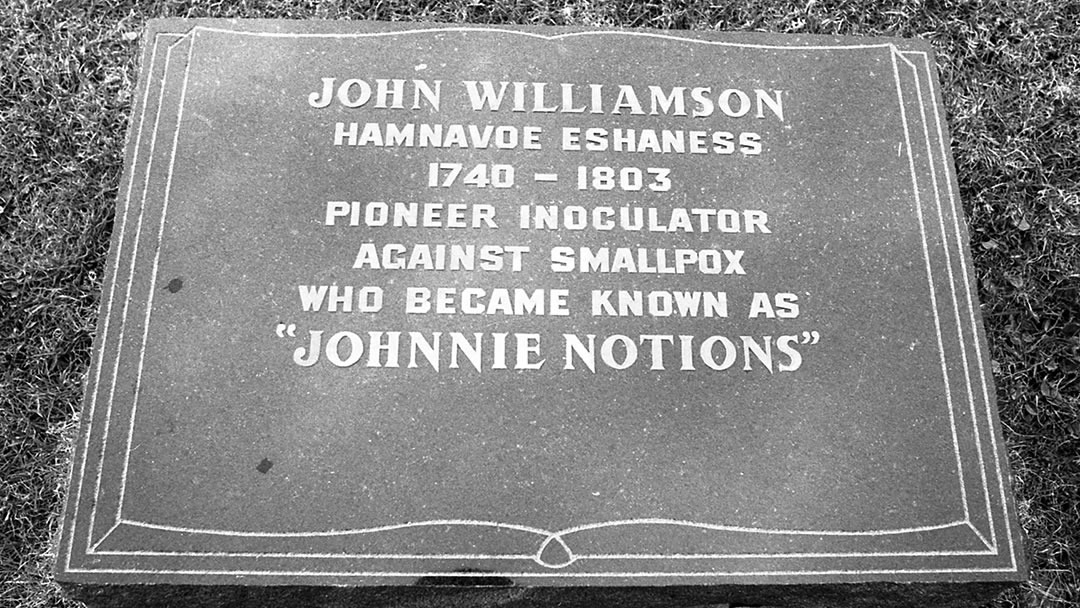 The grave of Johnnie Notions