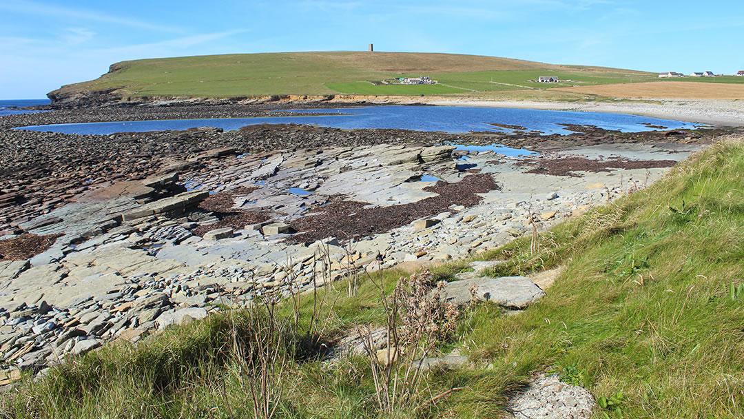 Marwick Bay and the tidal lagoon The Choin