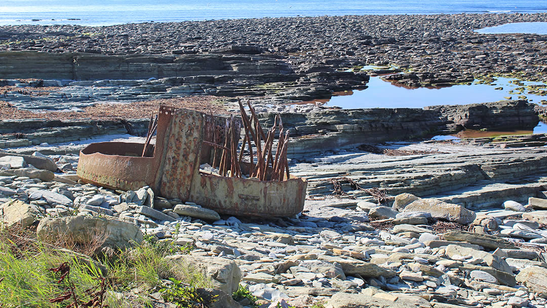 The boiler from S.S. Monomoy at Marwick Bay in Orkney