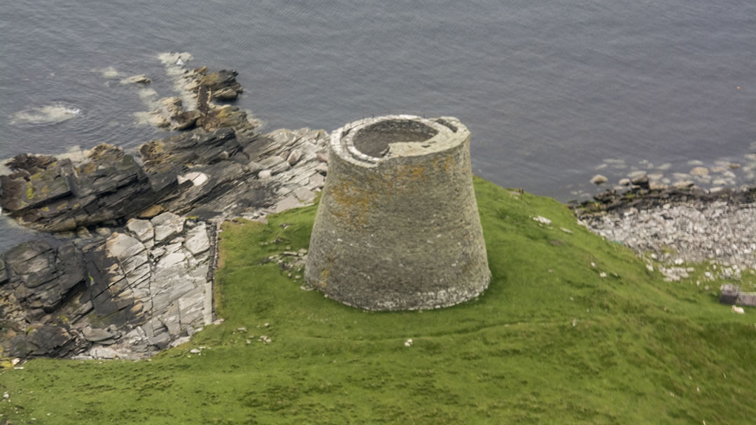 Aerial view of Mousa Broch