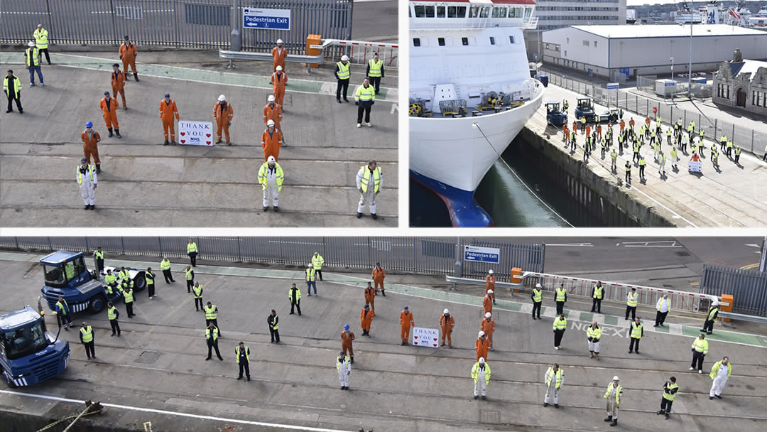 NorthLink staff pay tribute to the NHS and key workers