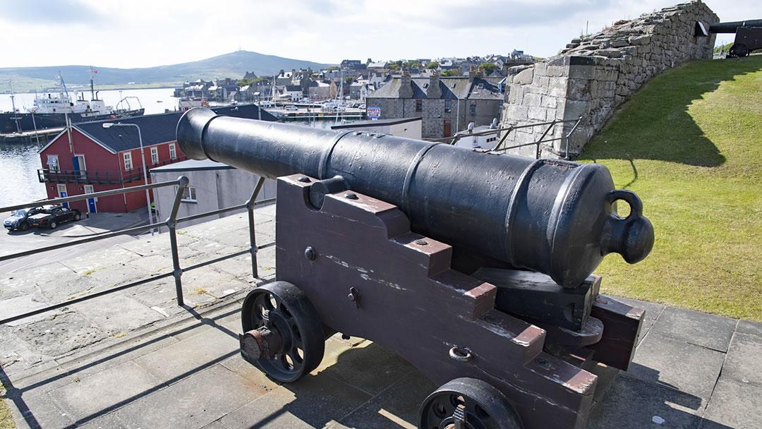 Fort Charlotte cannon, Lerwick, Shetland