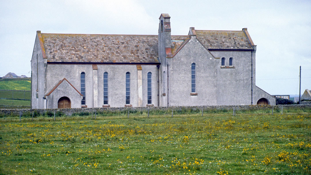 Moncur church in Stronsay, Orkney