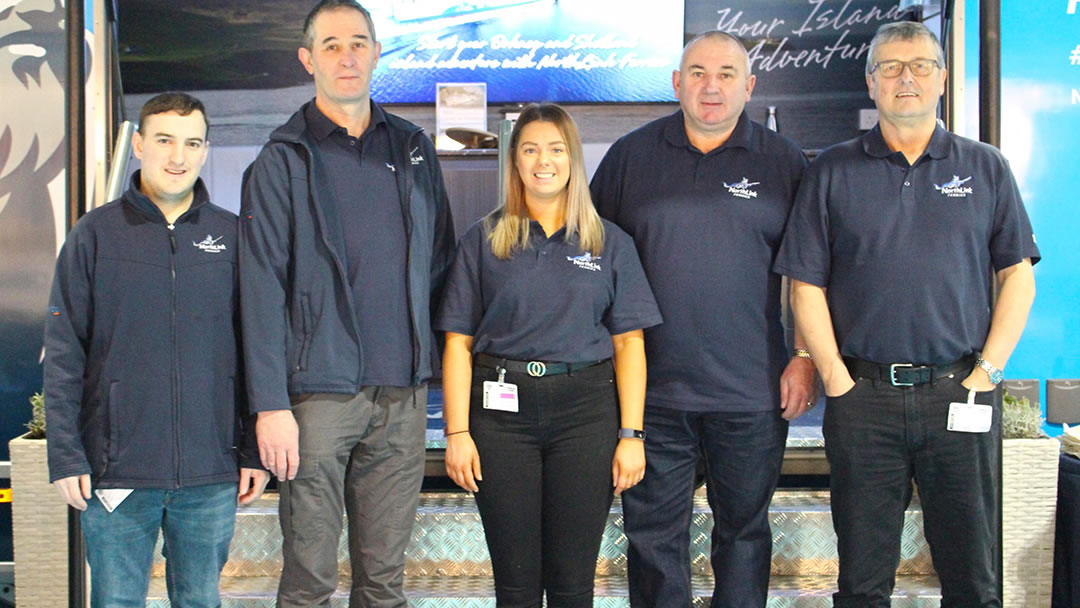 NorthLink team at Scottish Caravan, Motorhome and Holiday Home Show