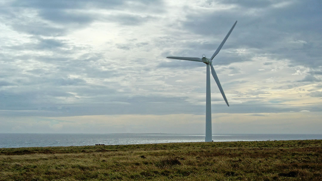 Rothiesholm wind turbine, Stronsay in Orkney