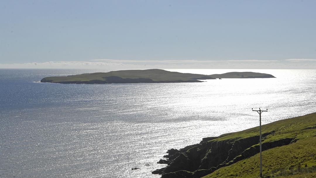 The uninhabited island of Mousa in Shetland