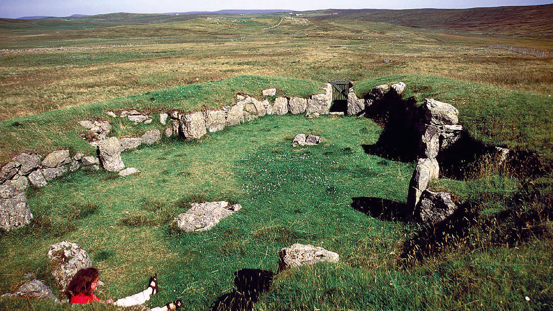 Neolithic Staneydale temple in Shetland