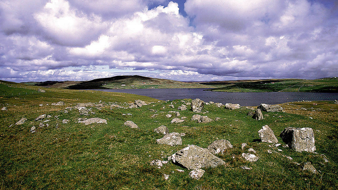 Neolithic crofts - Pinhoulland in the Shetland islands