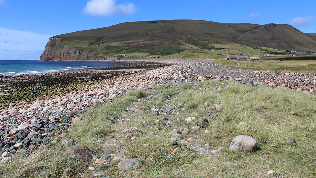 Rackwick beach in the Orkney islands