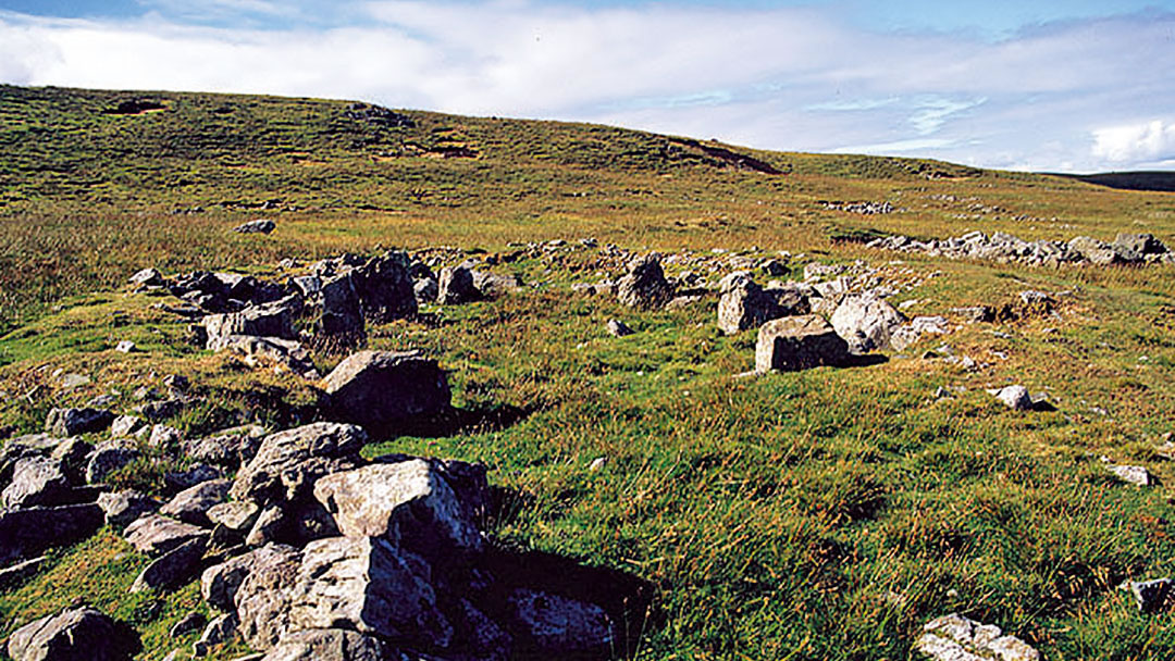 The Scord of Brouster in the Shetland islands
