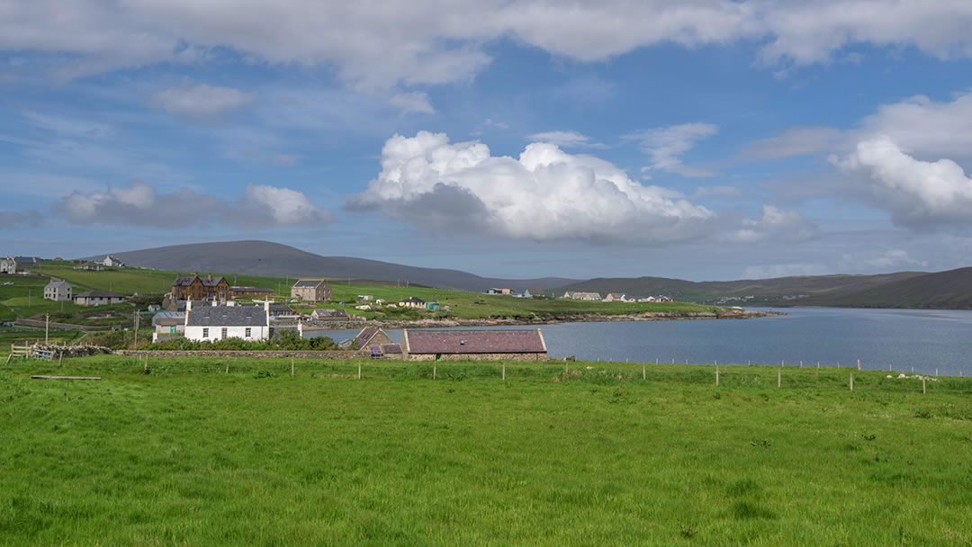 The village of Hillswick in Shetland geograph-6185180-by-Russel-Wills