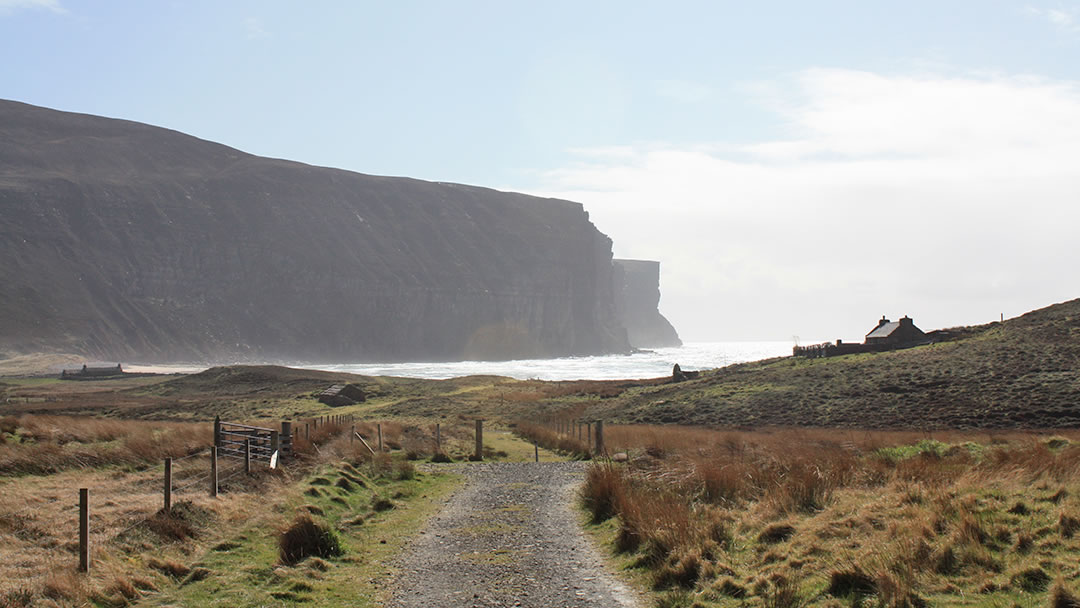 The sea surges into Rackwick Bay in Orkney