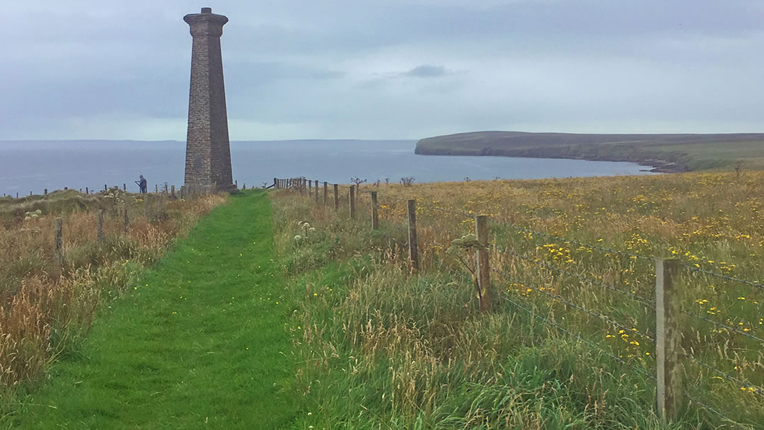 Approaching the Covenanters Memorial in Orkney