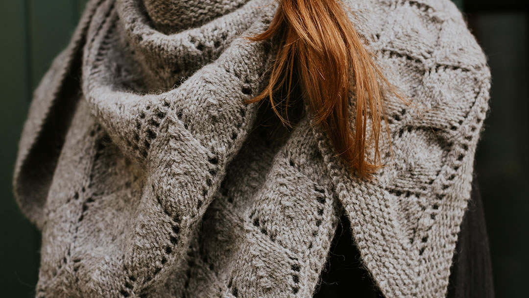 Brough Shawl knitted in Donna Smith's Langsoond Yarn - photo by Susan Molloy