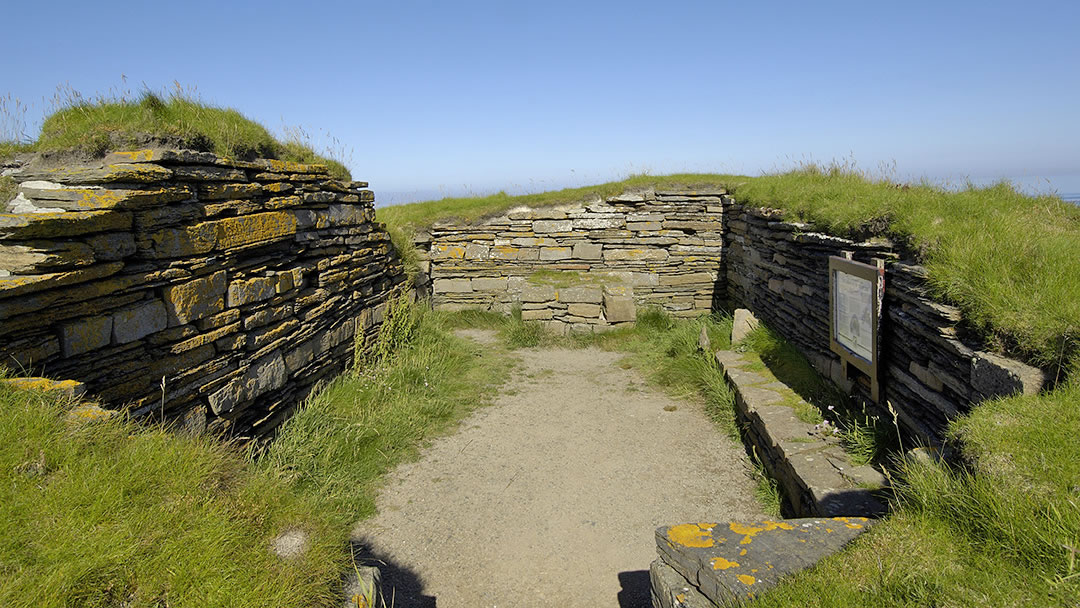 Chapel on the Brough of Deerness in Orkney