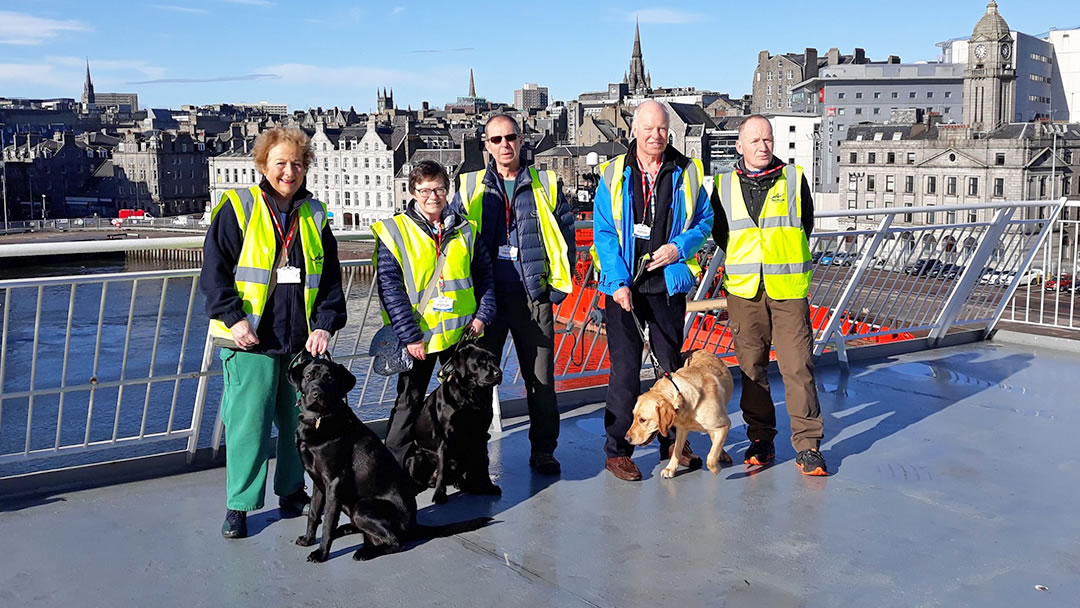 Guide Dog training on board