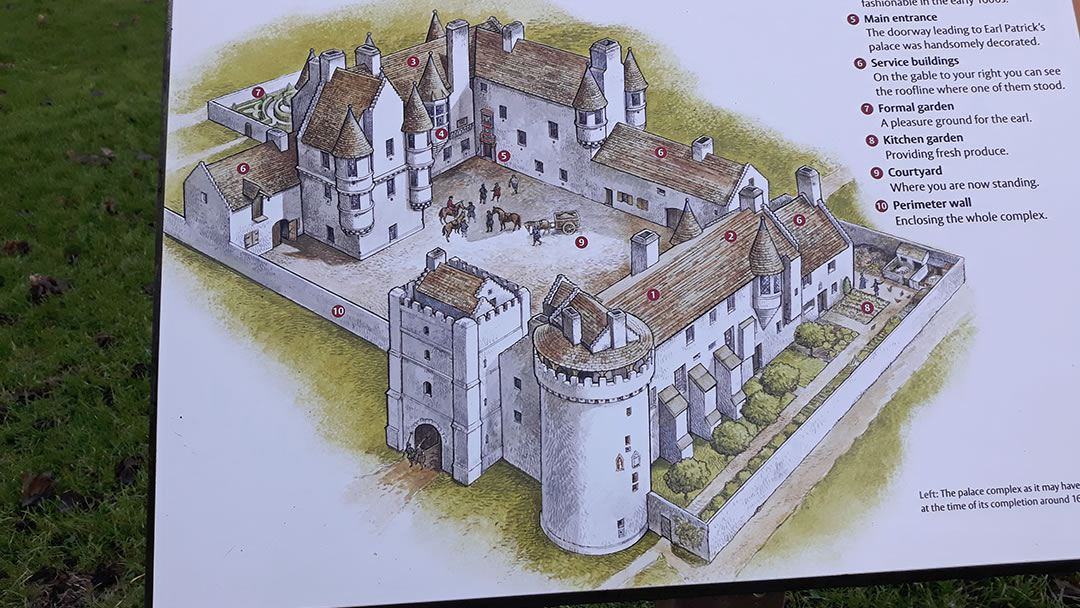 Illustration of the Earl's Palace in Orkney