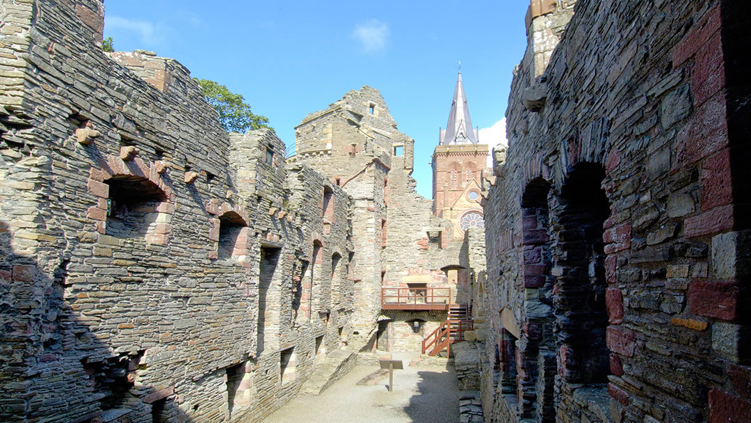 Inside the Bishop's Palace in Kirkwall Orkney