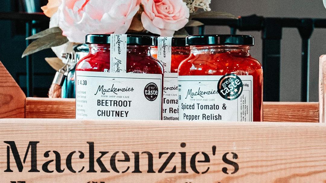 Jams, marmalades, chutneys and relish available at Mackenzies Farm Shop