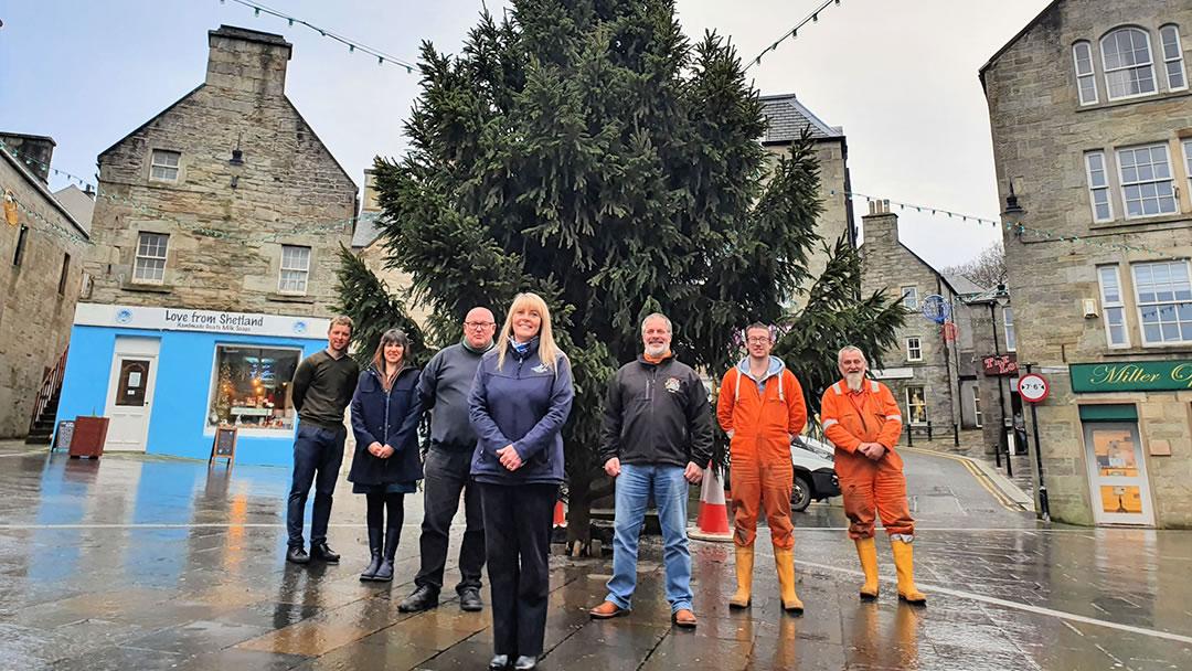 Lerwick Christmas tree