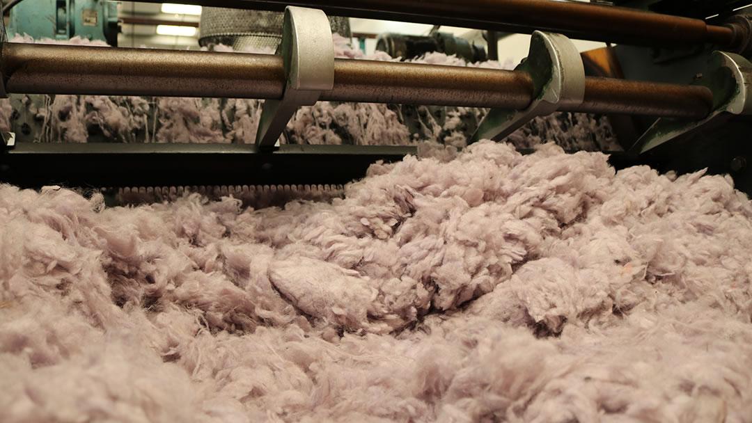 Processing wool at Jamiesons