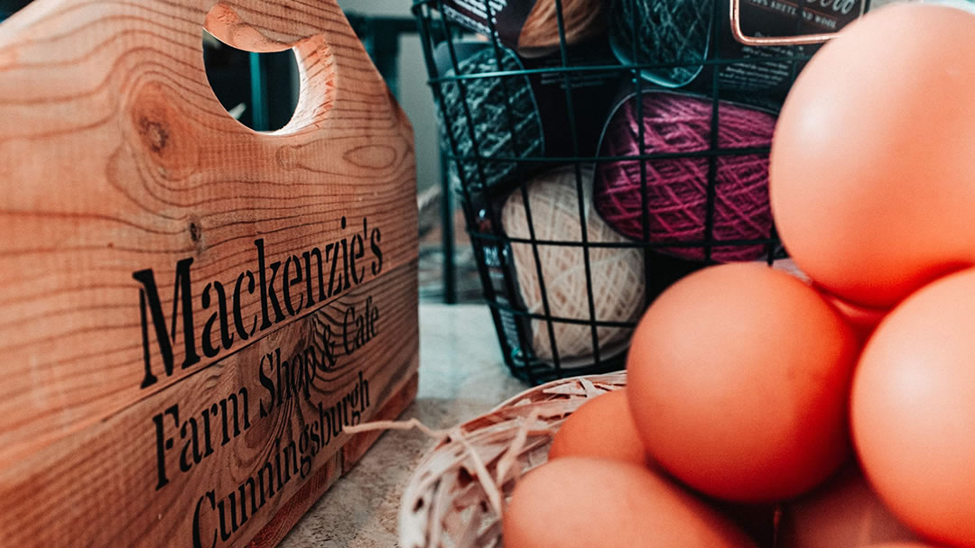 Shetland produce at Mackenzies Farm Shop