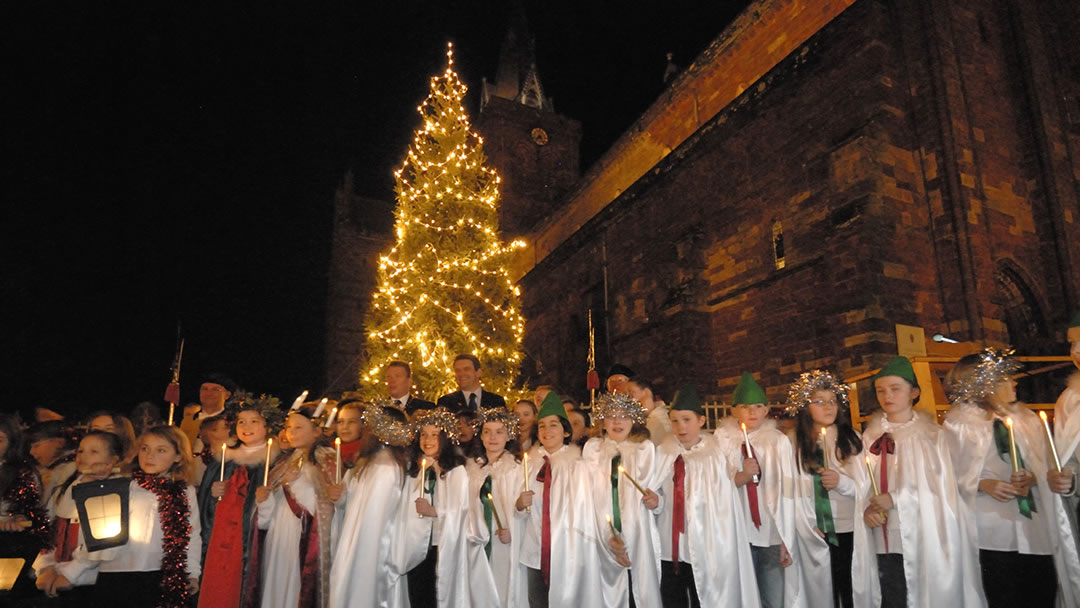 St Magnus Cathedral Christmas Tree