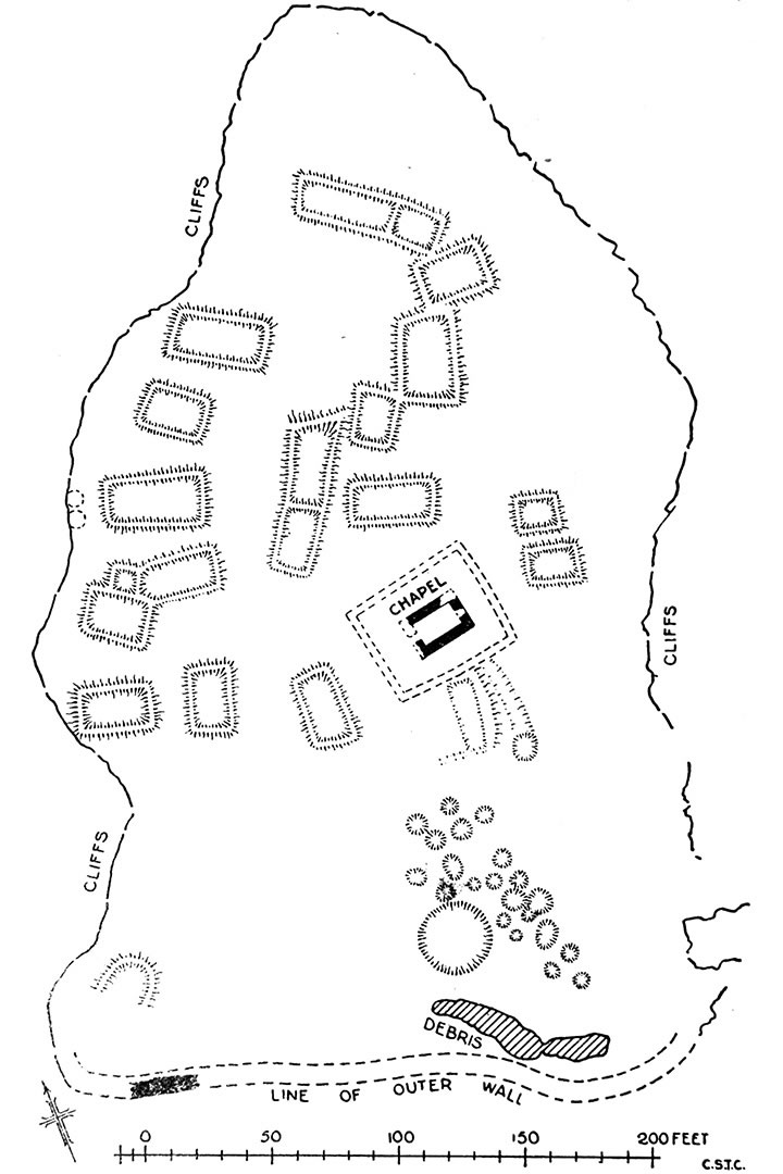The Brough of Deerness - plan