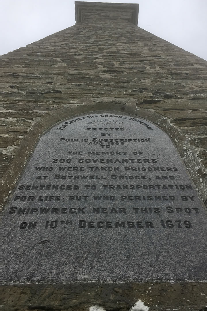 The Covenanters Memorial close up