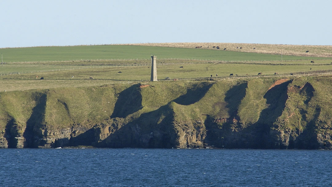 The Covenanters Memorial from the sea