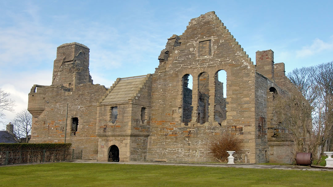 The Earl's Palace in Kirkwall from the bowling green