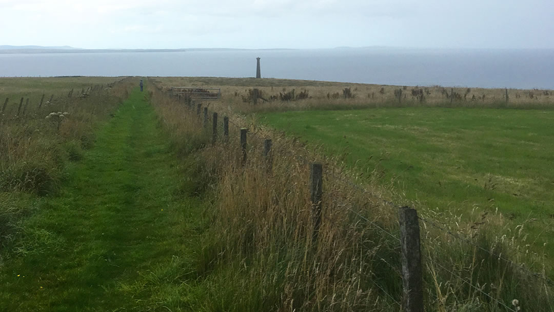 The path inland from the Covenanter's Memorial