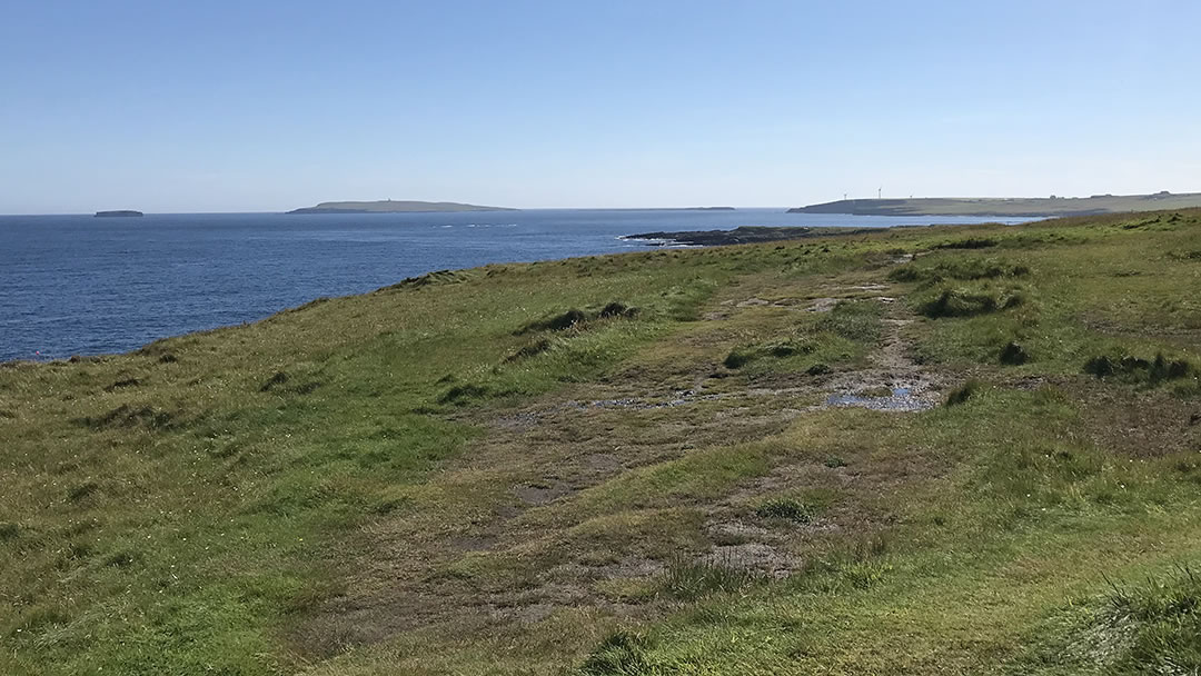Walking to the Brough of Deerness in Orkney