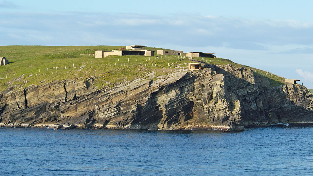 Wartime batteries at Hoxa Head in South Ronaldsay, Orkney