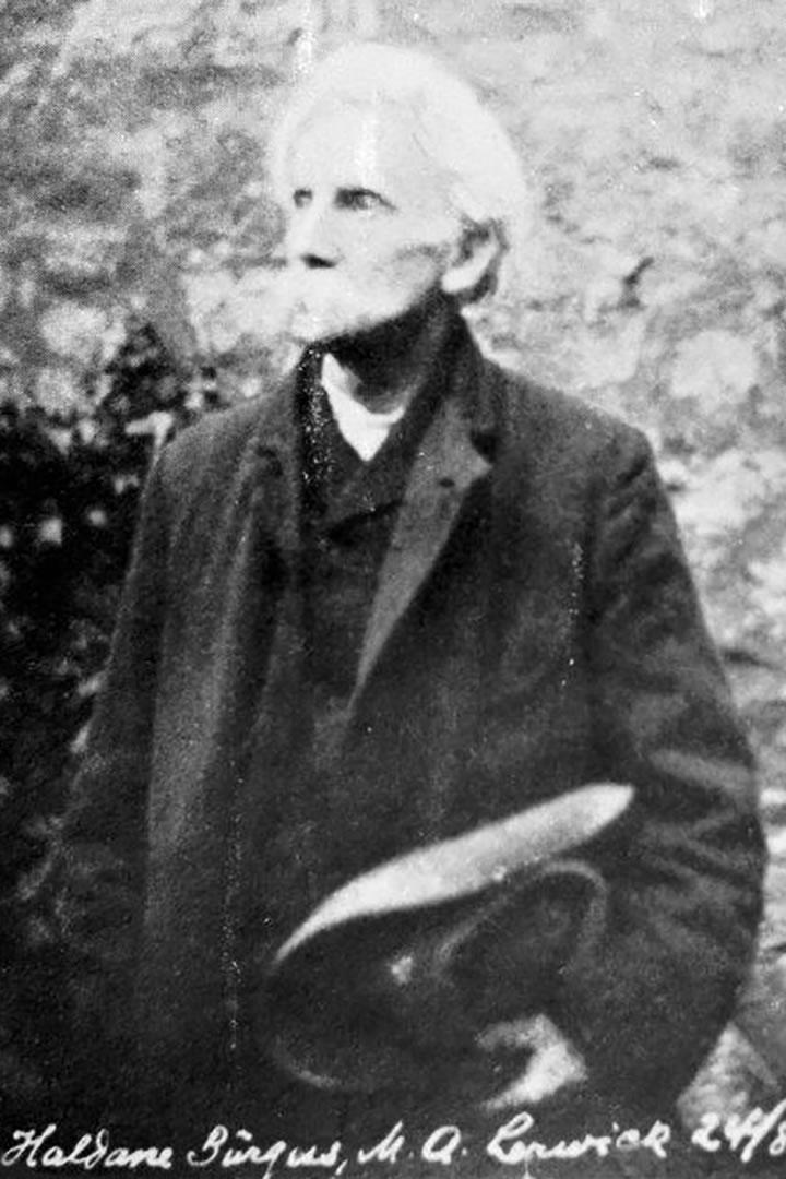 1923 Photo of J.J.Haldane (James John Haldane) Burgess M.A (28 May 1862 to 16 Jan 1927).