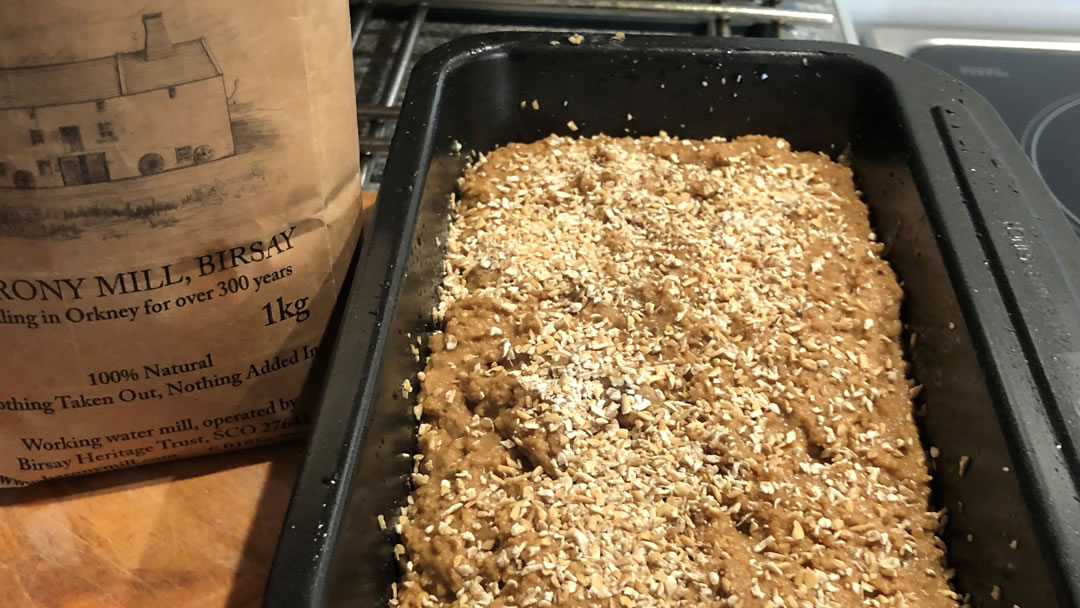 Beremeal and Oat Farmhouse Loaf from Orkney - ready for the oven