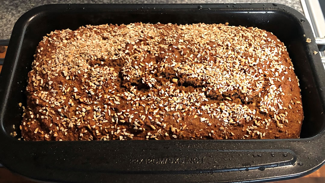 Beremeal and Oat Farmhouse Loaf - just out of the oven