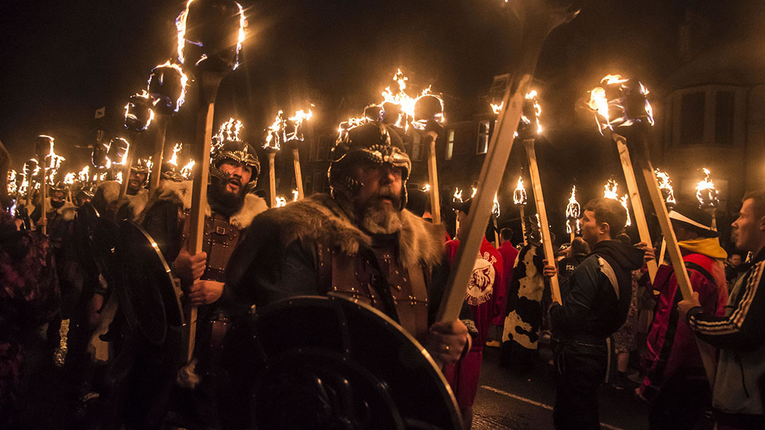 The 2019 Up Helly Aa procession