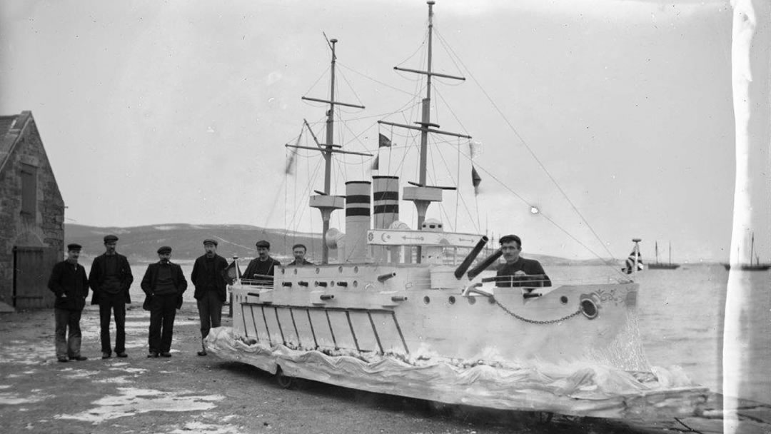 The Docks' Boys Up Helly Aa galley from 1905 - Admiral Togo's Flagship Mikasa