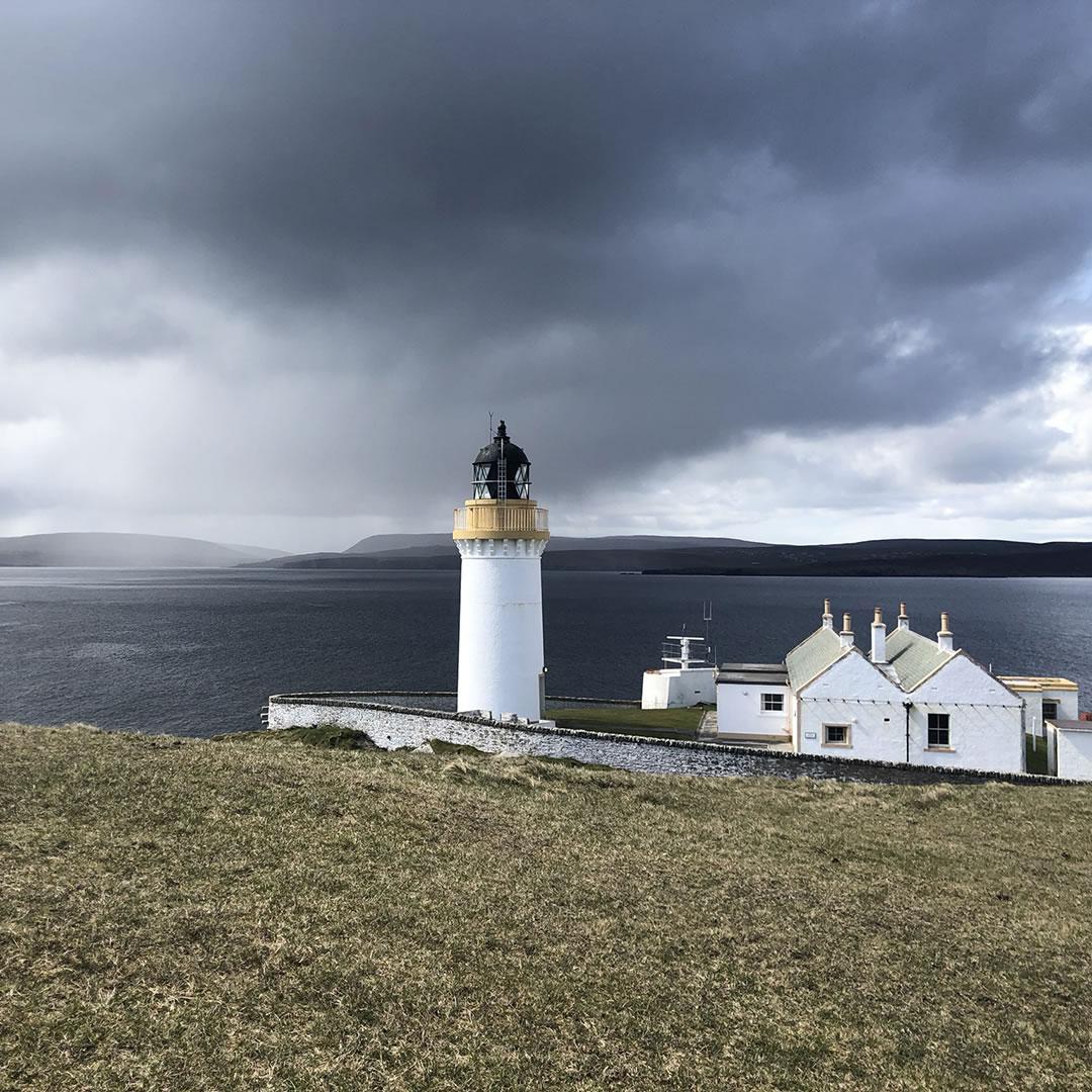 Bressay Lighthouse in Shetland