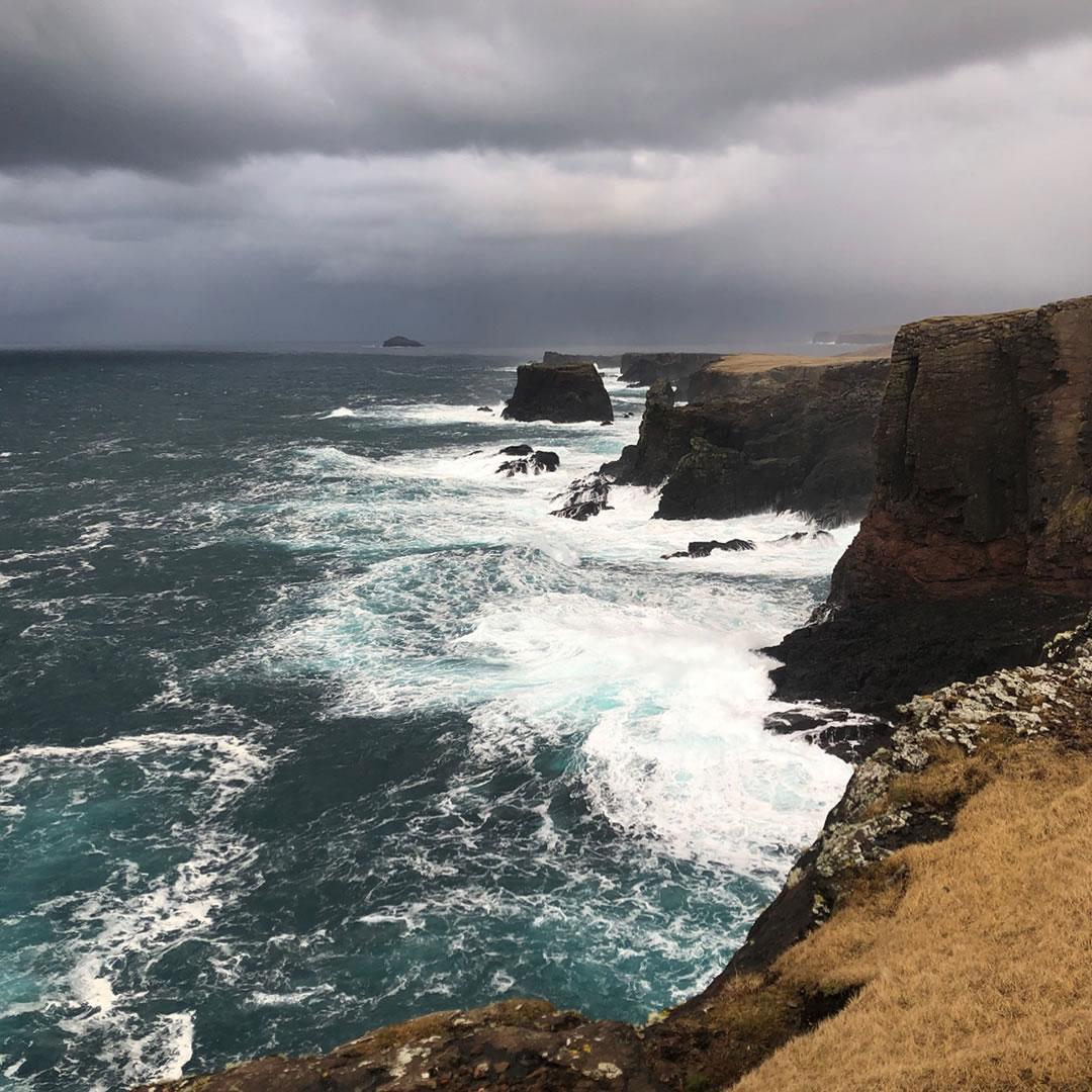 Eshaness cliffs in Shetland
