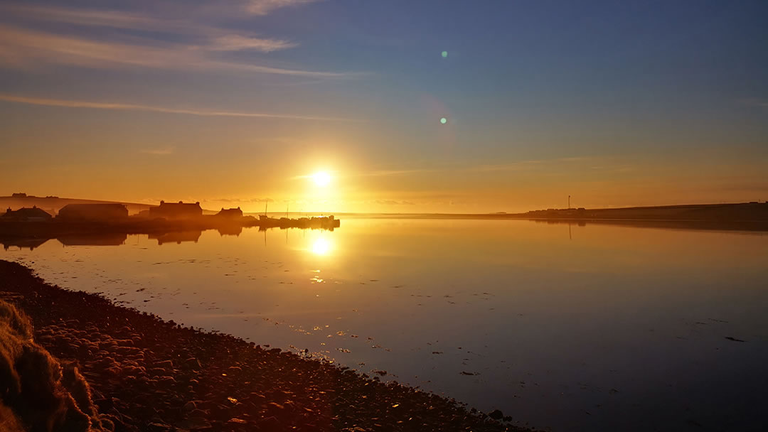 Orkney Gin - Sunset Over Burray From Distillery