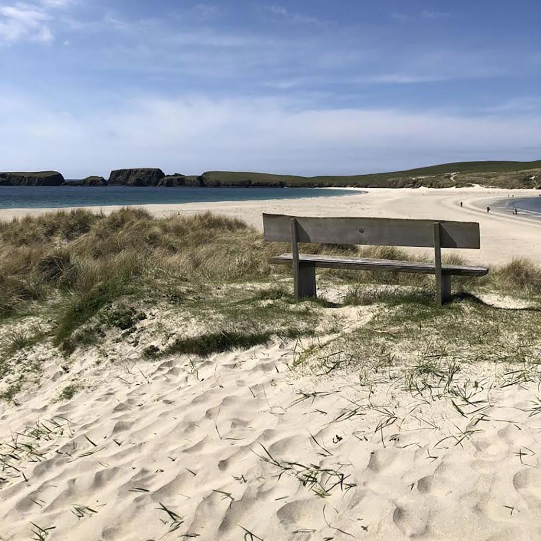 St Ninian's Isle beach in Shetland