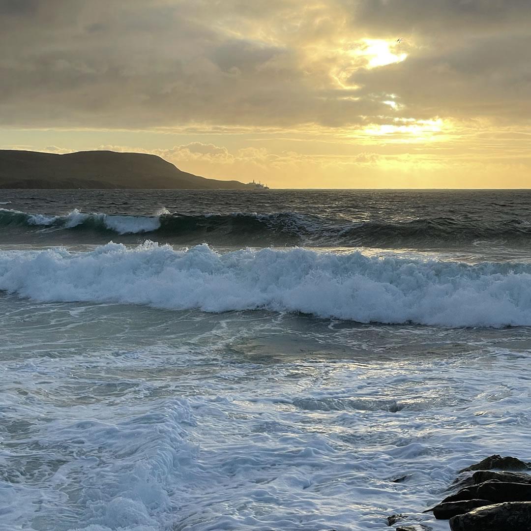 Stormy seas in Shetland