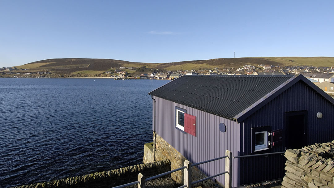 Looking across to Gallow Hill in Scalloway, Shetland