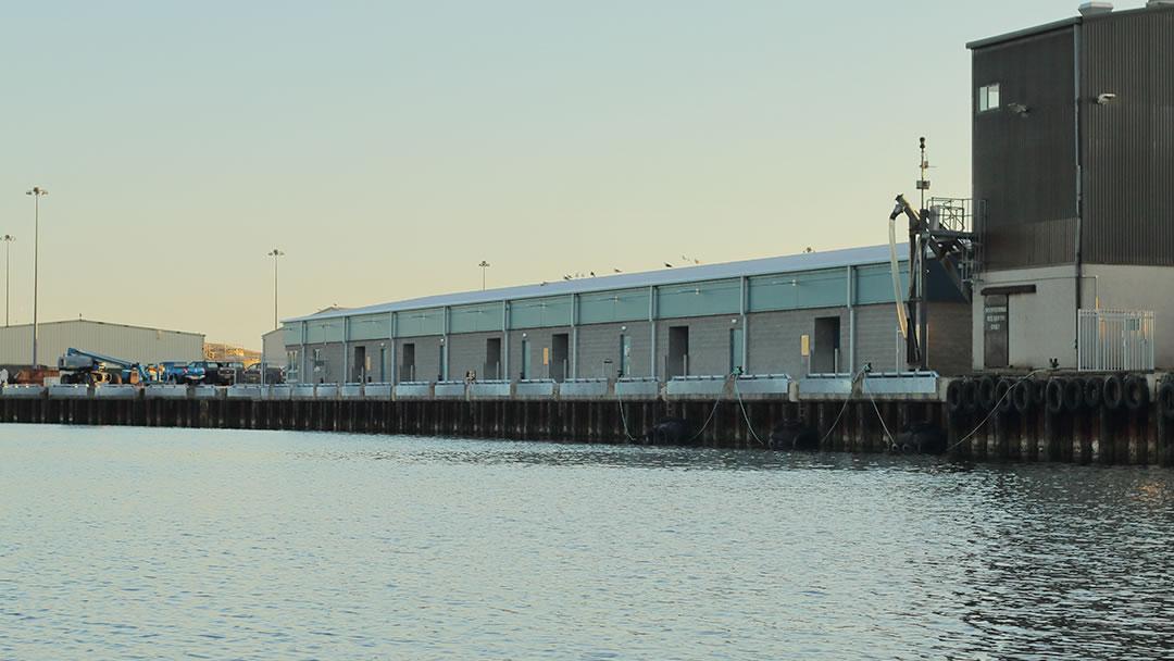 New Scalloway fish market in Shetland