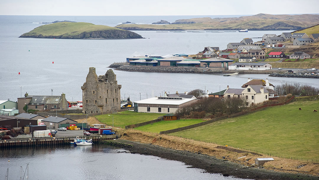 Scalloway and Green Holm