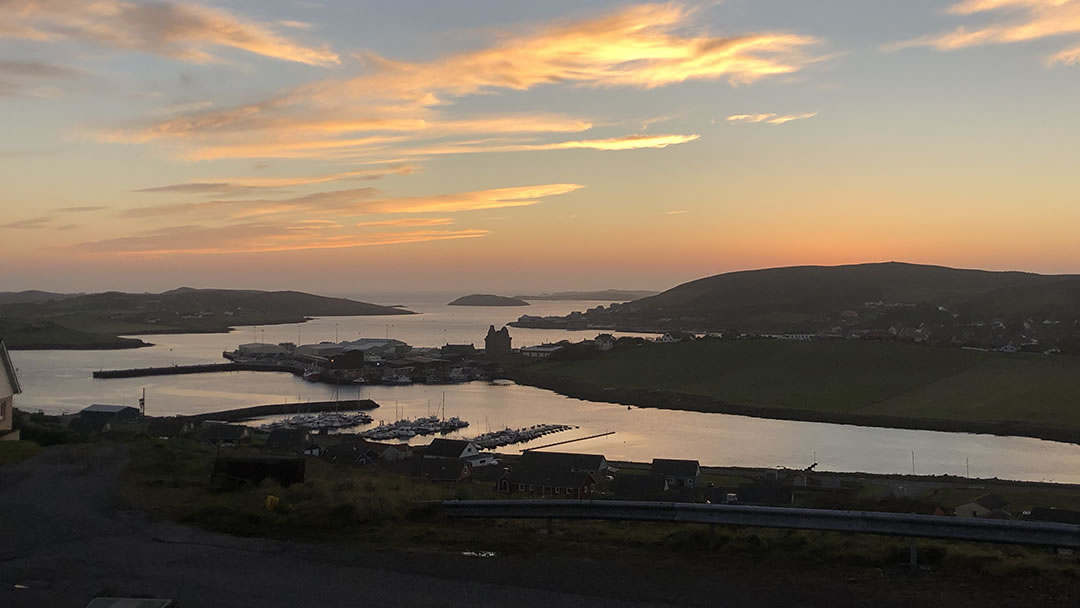 Scalloway is the former capital of Shetland