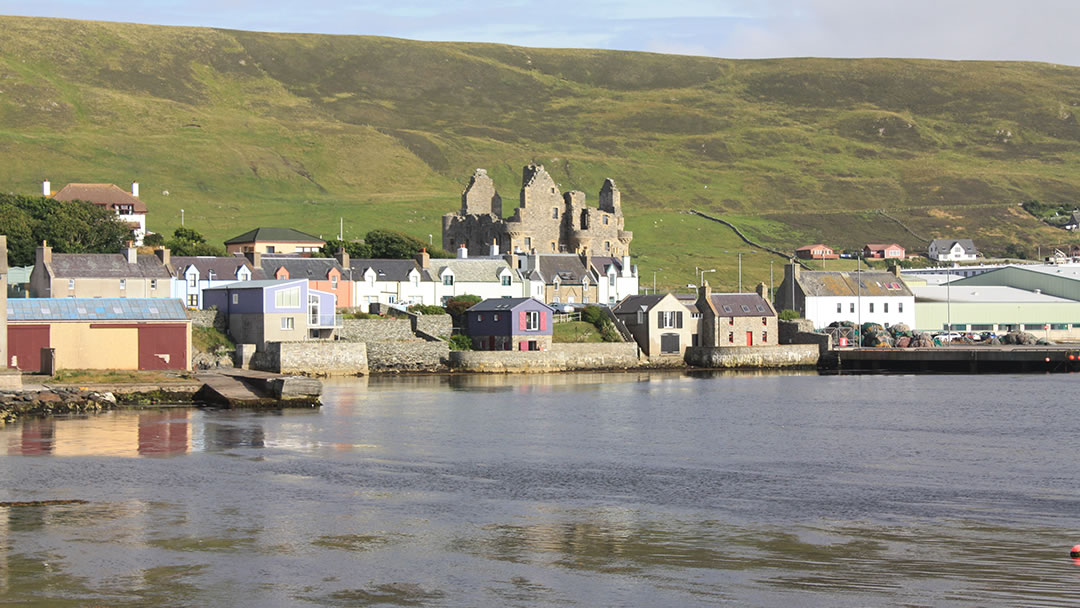 Shetland and Scalloway waterfront
